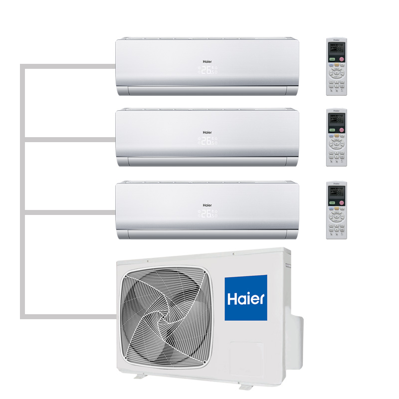 Мульти сплит система Haier 3U24GS1ERA(N)/ AS12BS4HRA/ AS07BS4HRAх2